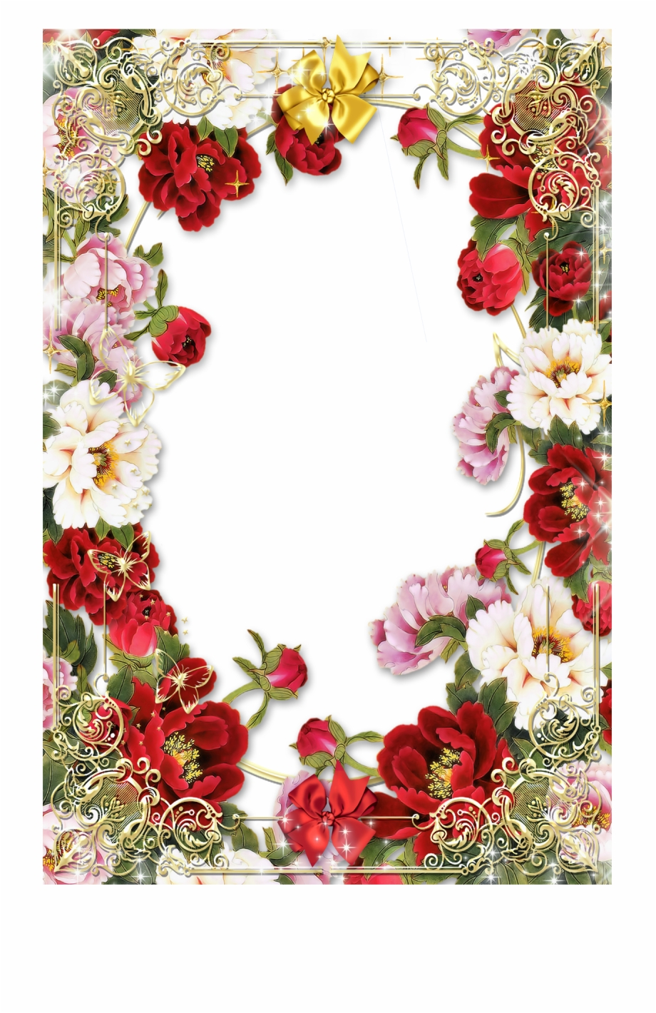 Flowers Borders Png Transparent Images Border Rose Flower Design