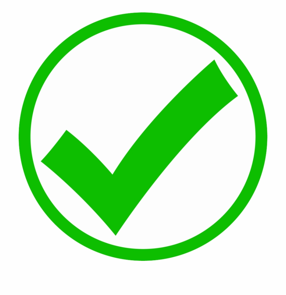Check Mark Png Icon - Green Circle Check Mark | Transparent PNG ...