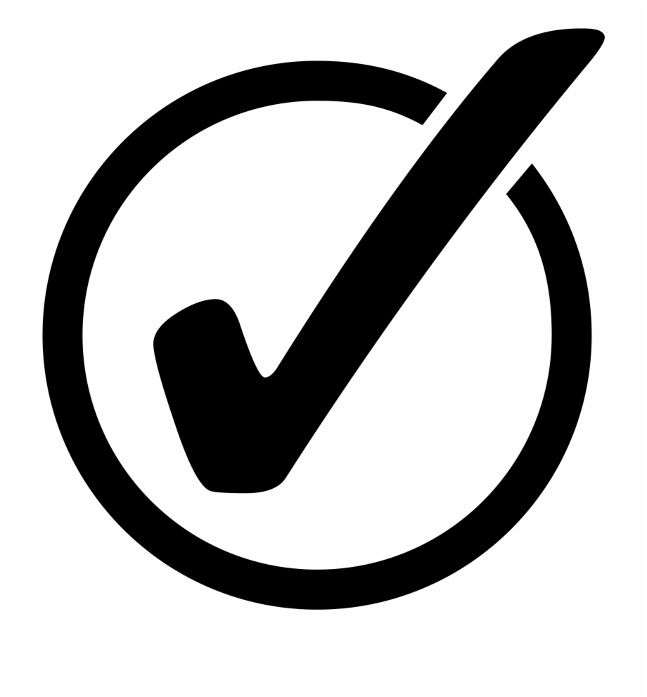This Free Icons Png Design Of Checkmark On Circle , - Circle Check Mark  Vector | Transparent PNG Download #14549 - Vippng