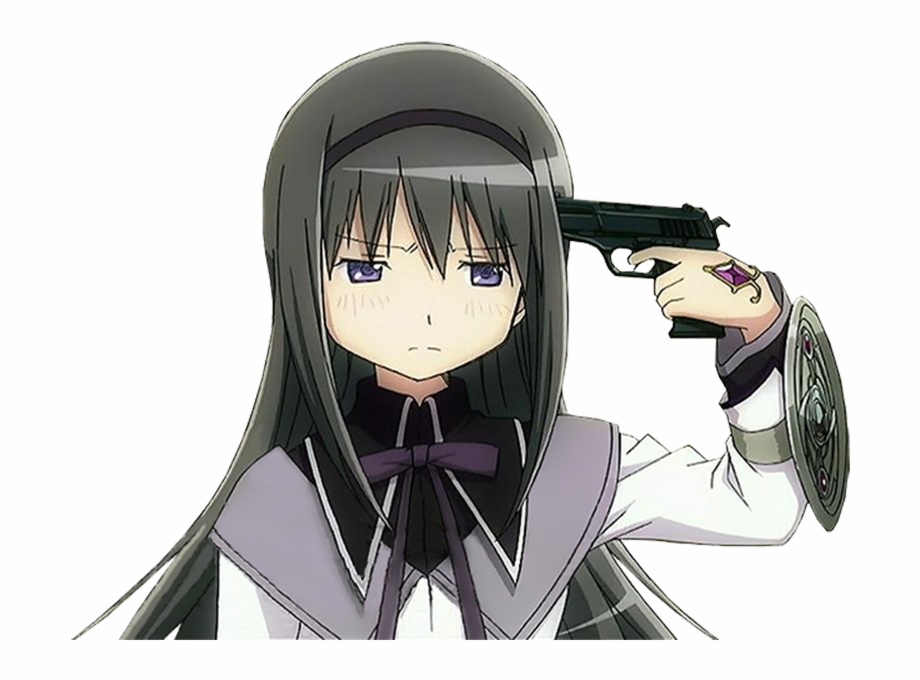 Anime Character With Gun To Head Transparent Png Download 17865 Vippng