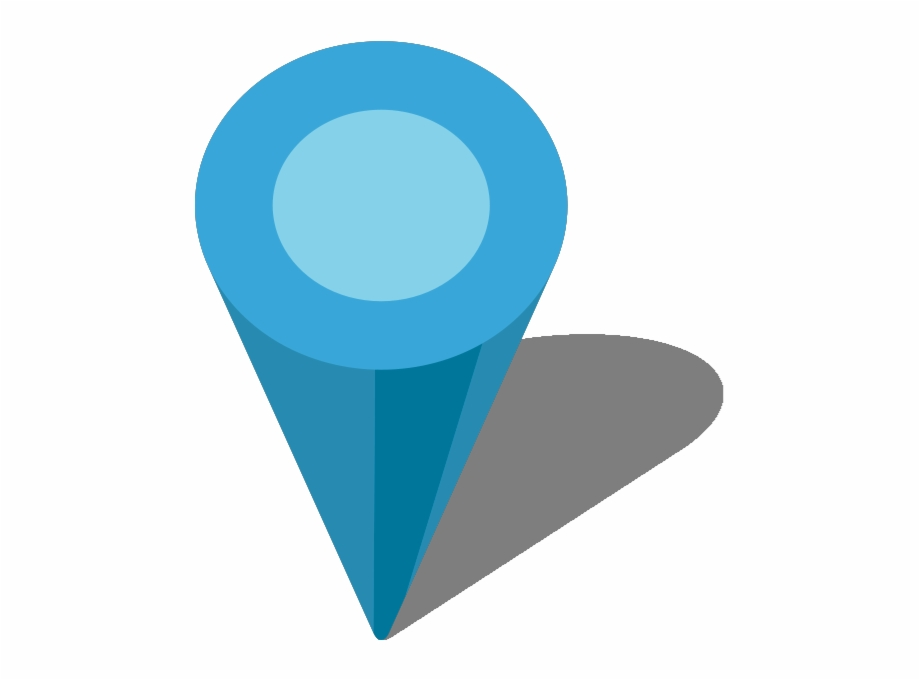 Location Map Pin Light Blue7 - Blue Location Icon Png