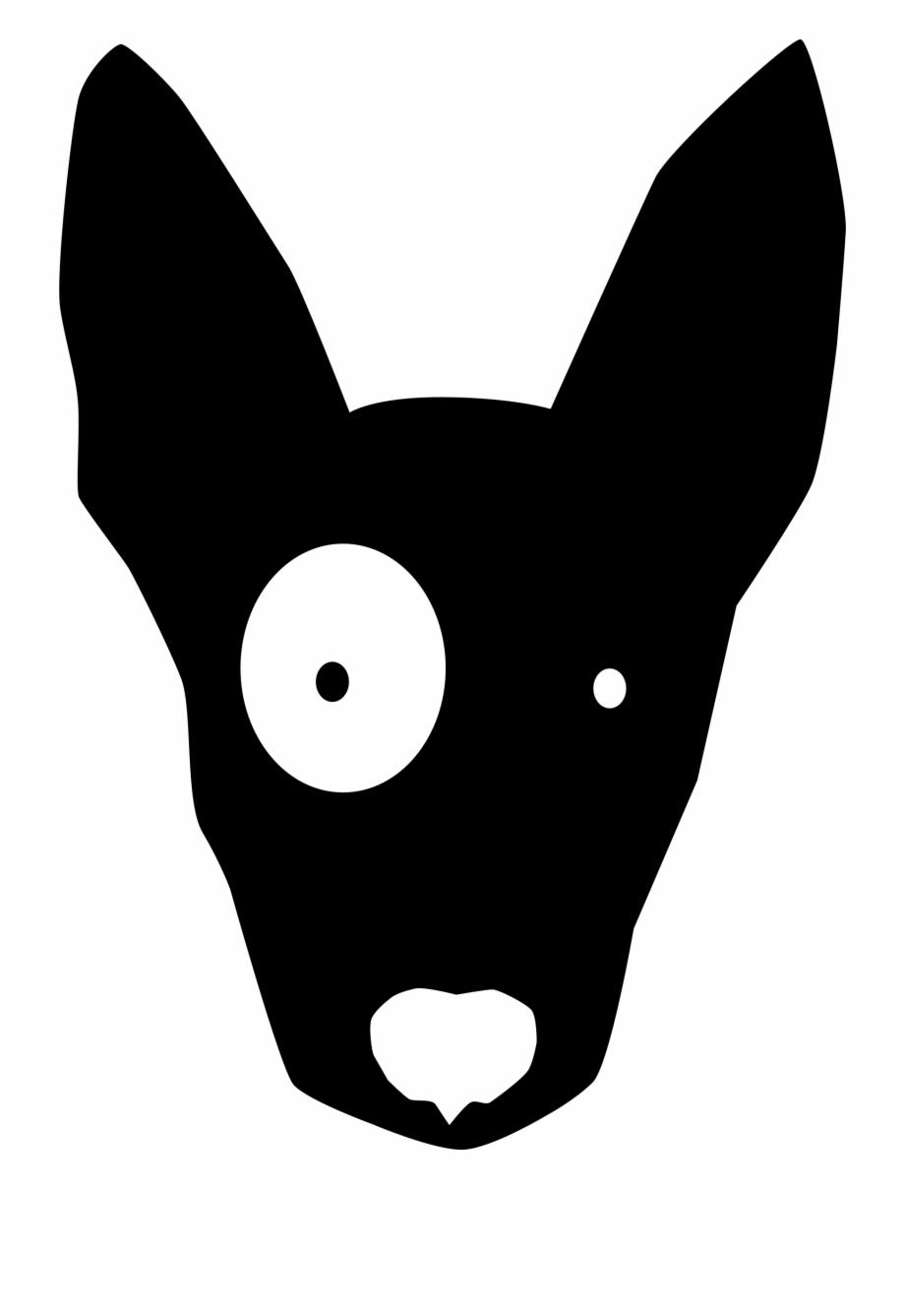 Black Cartoon Dog Silhouette Dog Face Clipart Transparent Png Download 1012620 Vippng