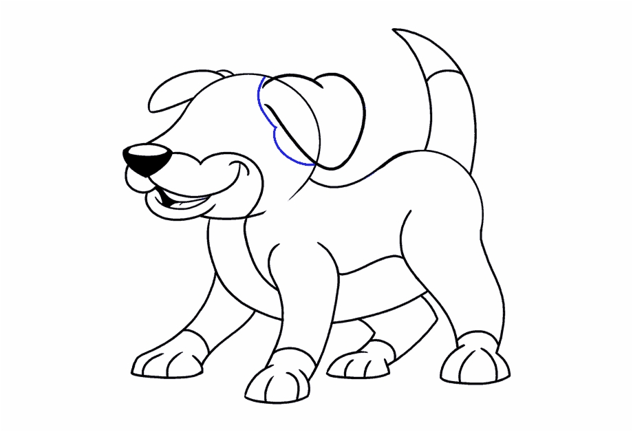 Cartoon Easy Drawing Guides Easy Cartoon Drawings For Dogs
