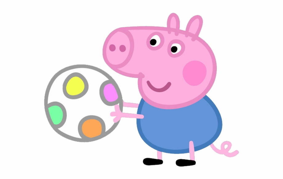 Peppa Pig Clipart Png Peppa Pig George Ball Transparent Png