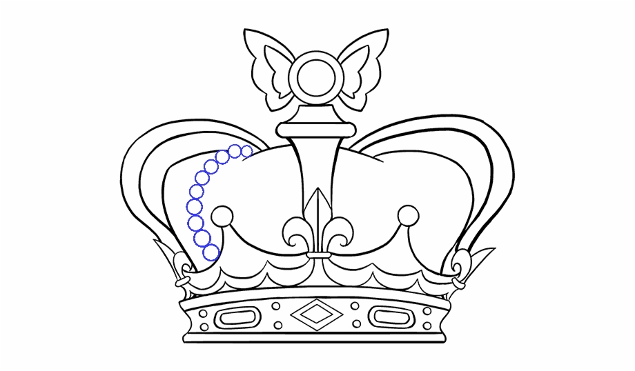 How To Draw Simple Easy Drawing Crown Transparent Png Download 1042046 Vippng