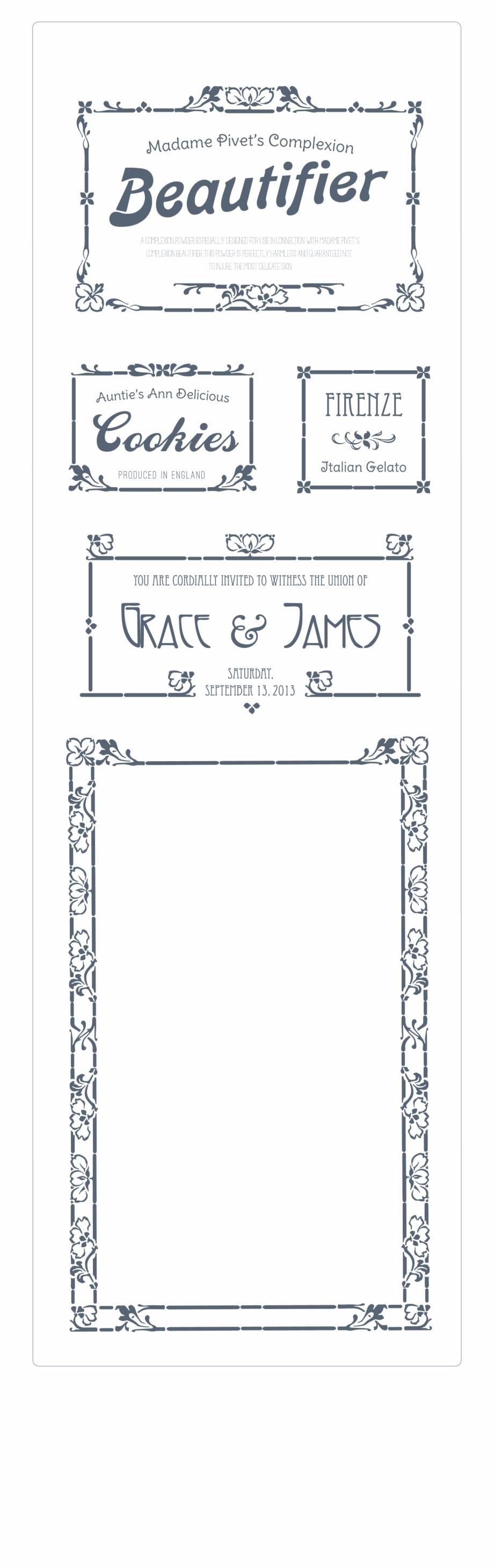 Create Elegant Art Nouveau Borders By Assembling Carte D Invitation Gratuite Transparent Png Download 1046193 Vippng
