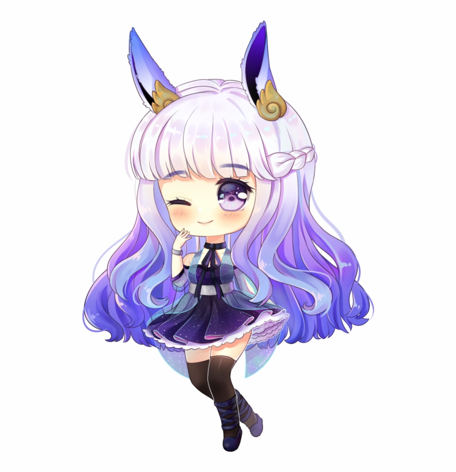 Roblox Anime Girl With Blue Hair Decal Download Super Cute Chibi