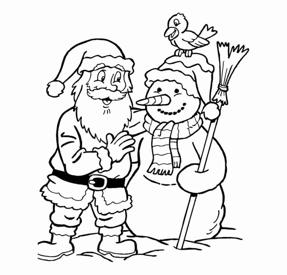 Merry Christmas Words Coloring Pages With Santa Claus Santa Claus Christmas Coloring Pages Transparent Png Download 1064138 Vippng