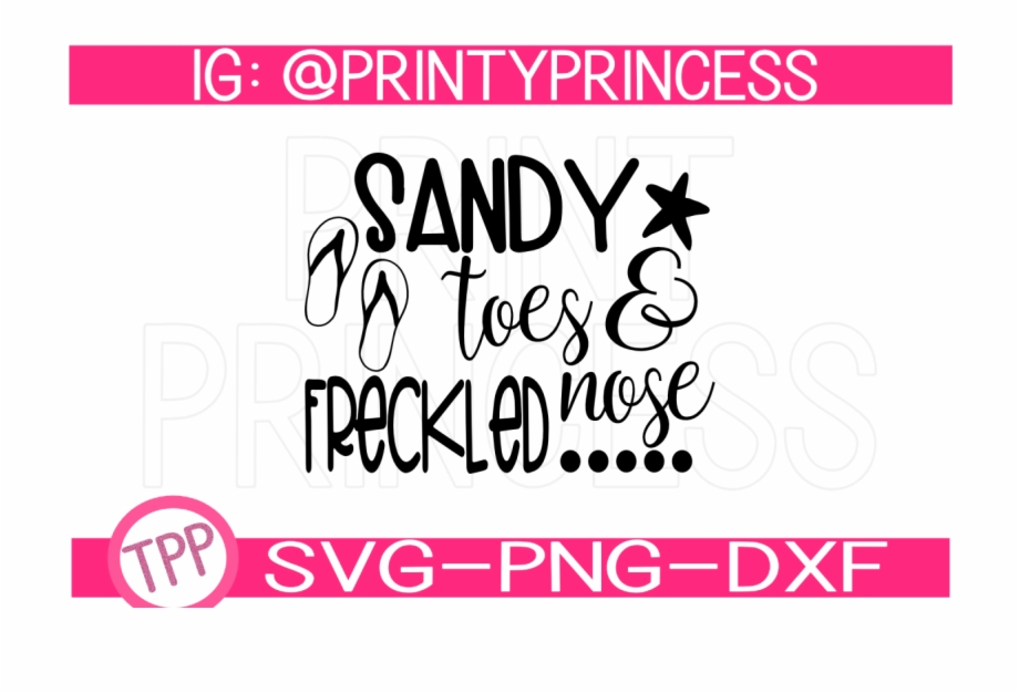 Get With Sandy Toes Svg File PNG