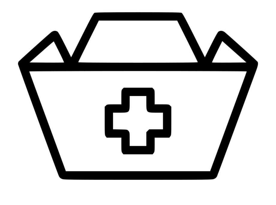 Nurse Hat Cross Medical Medic Svg Png Icon Free Download Black And White Nurse Clipart Transparent Png Download 1072868 Vippng