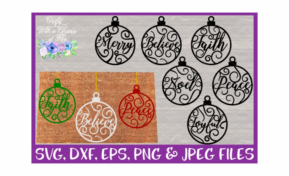 Christmas Word Ornaments Svg Christmas Flourish Baubles Scalable Vector Graphics Transparent Png Download 1080229 Vippng