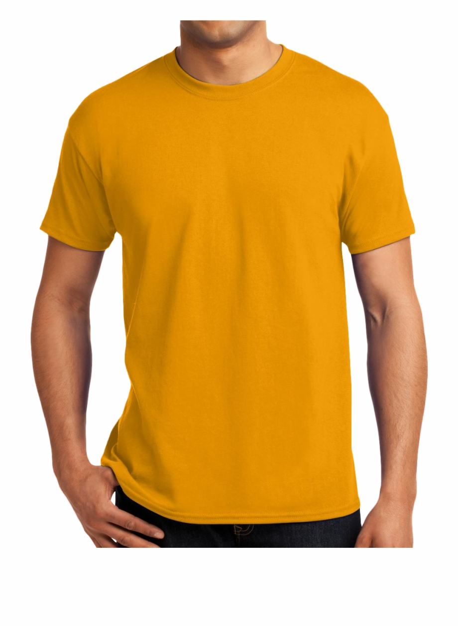 Ecosmart 50 50 Cotton Poly T Shirt Design 4 You Screen Golden Yellow Shirt Png Transparent Png Download 1081882 Vippng