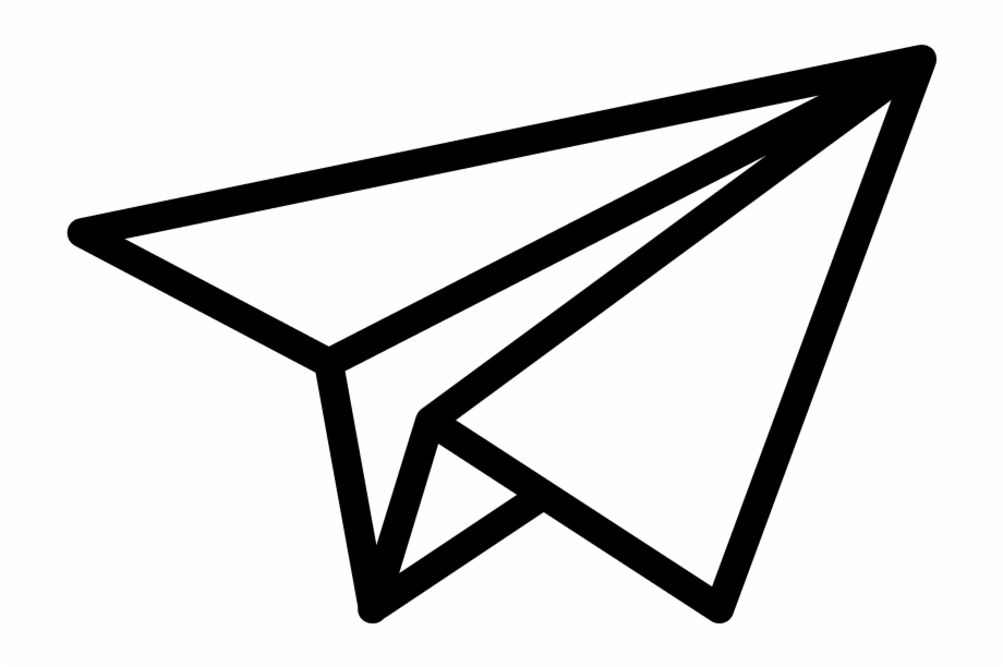 Go Paperless Trade Paper Airplane Icon Transparent Background