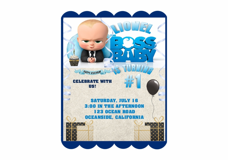 Boss Baby Birthday Party Keepsake Bottle Invitation