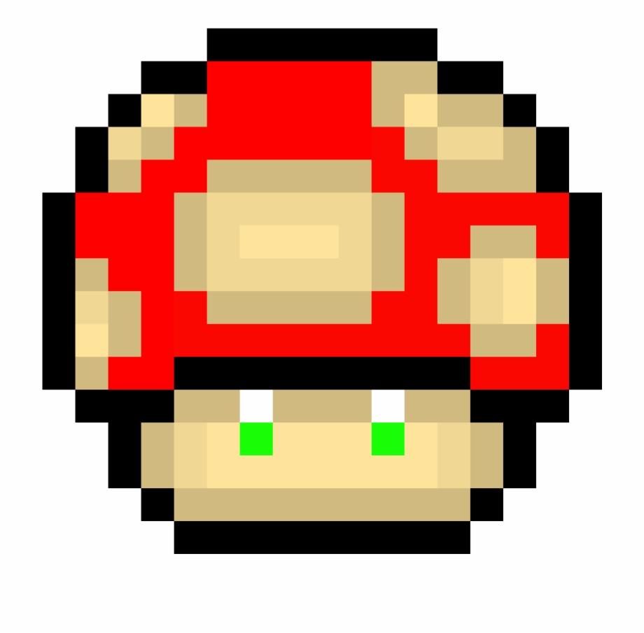 Mario Mushroom Mushroom Pixel Art Transparent Png