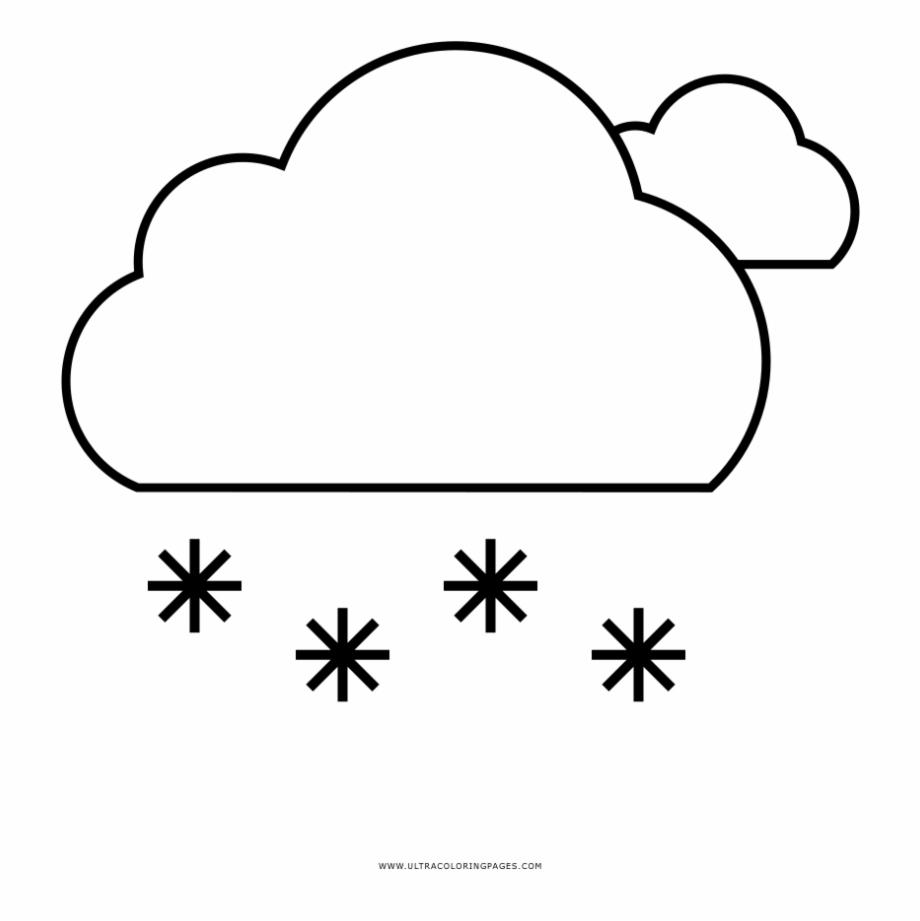 Colorear Nieve Dibujo De Nube Nieve Para Colorear Ul - Line Art ...