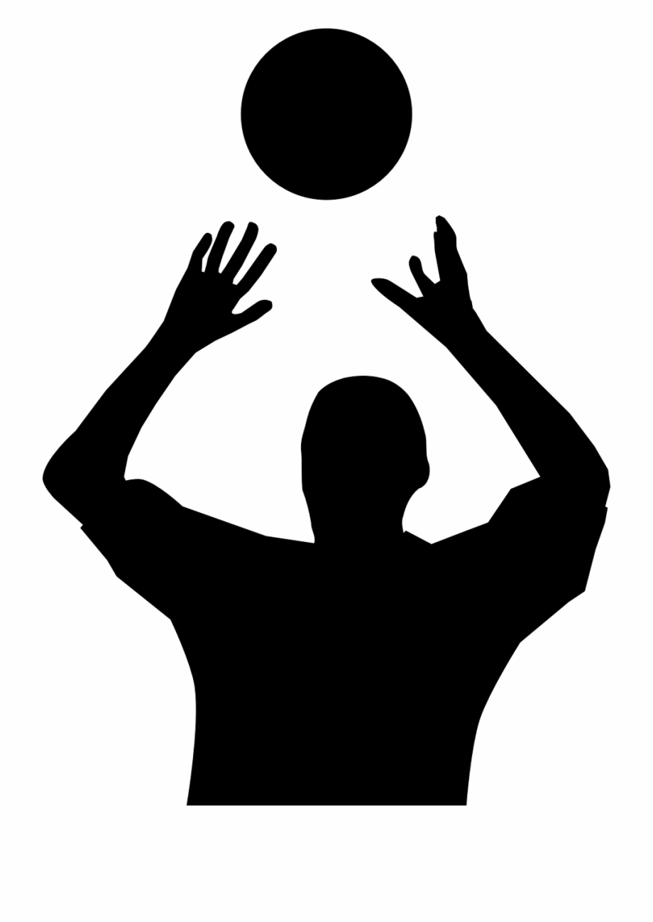Volleyball Player Silhouette Png Image Set Volleyball Clip Art Transparent Png Download 122398 Vippng