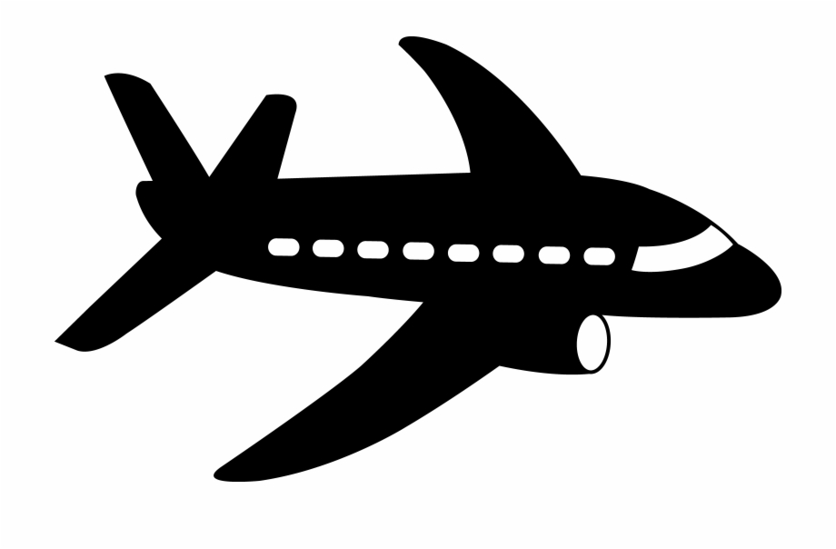 Airplanes Airplane Silhouette Cartoon Free Clipart Clipart Airplane Transparent Png Download 123810 Vippng