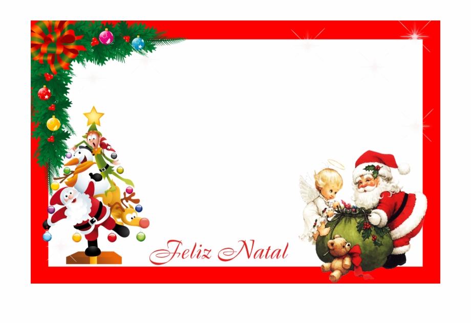 Bordas E Molduras De Natal Png Cartoes Natal Transparent
