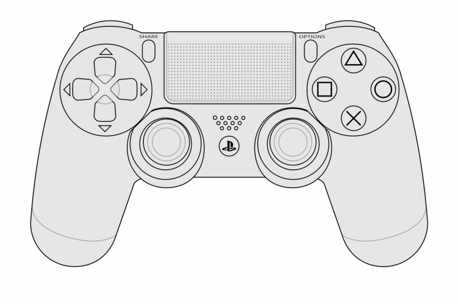 File Dualshock Layout Svg Wikimedia Commons Open Playstation 4 Controller Vector Transparent Png Download 1245391 Vippng