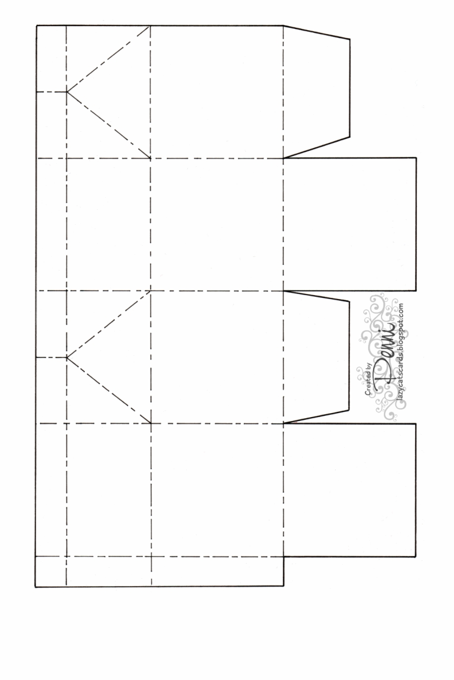 This is a graphic of Printable Box Template in lid