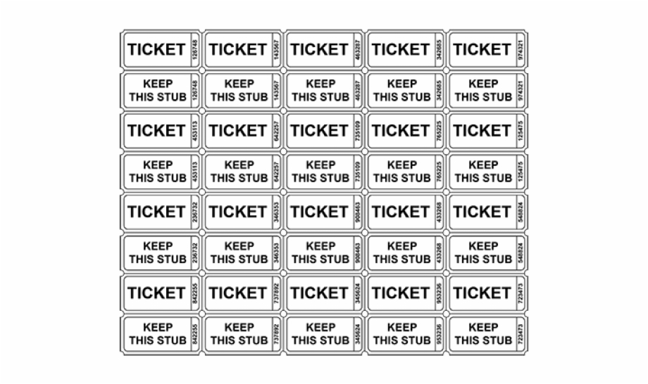 Pdf Printable Raffle Tickets Transparent Png Download 1258858 Vippng