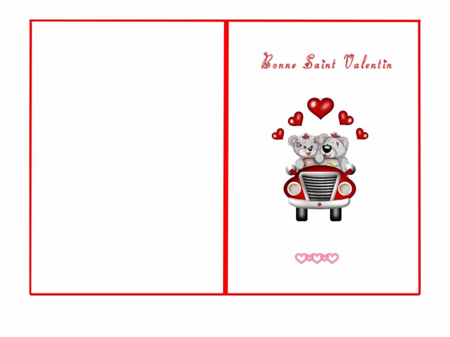 carte saint valentin à imprimer Carte Saint Valentin Coloriages Imprimer   Valentine's Day