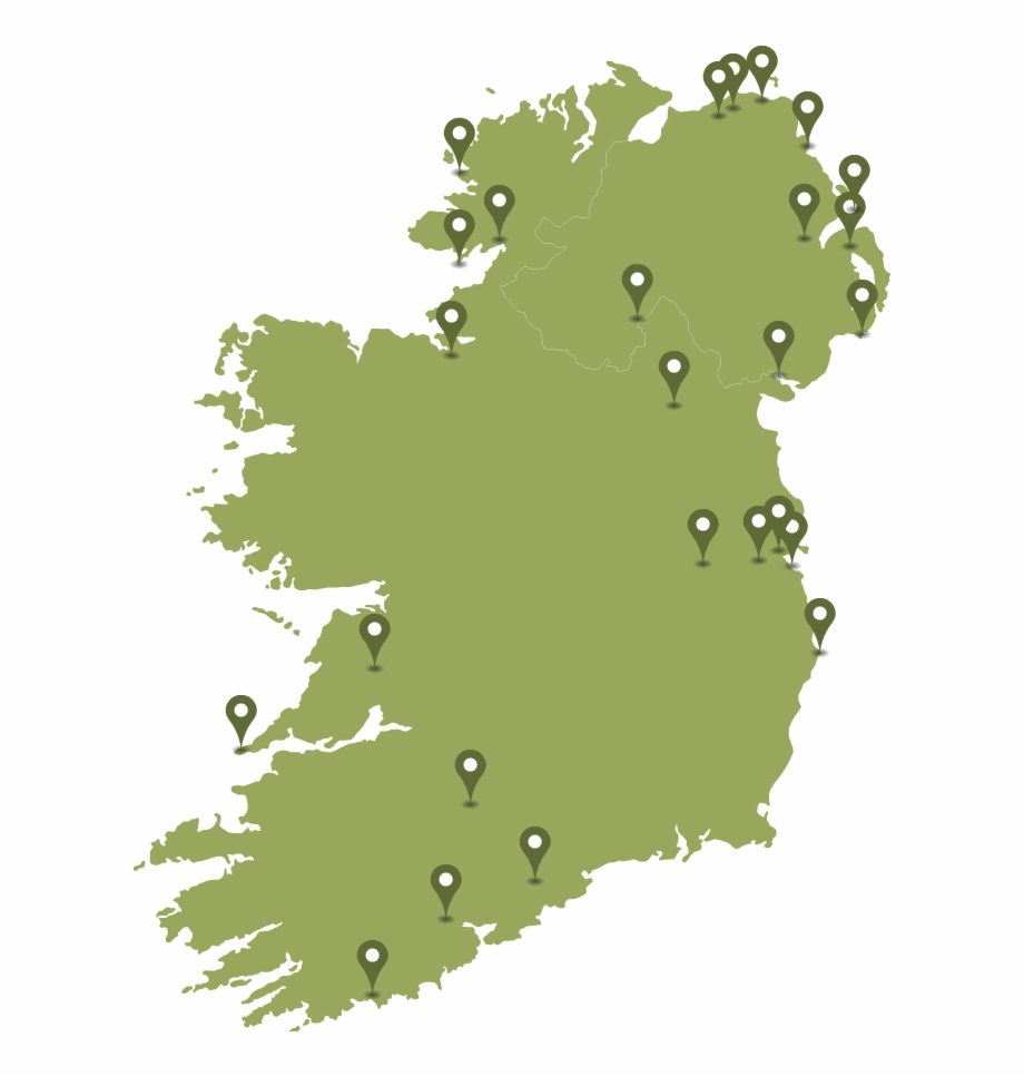 Castles Towers Ireland Map Vector Transparent Png