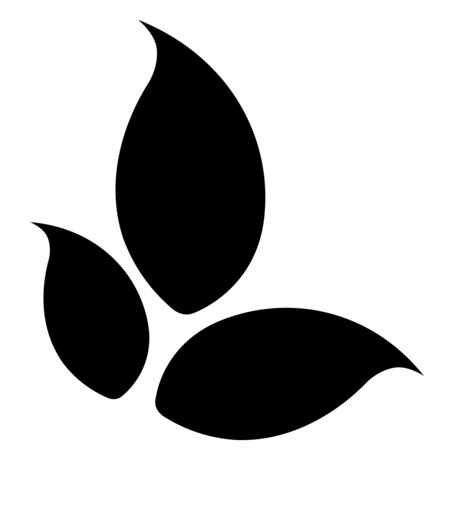 Png File Svg Three Leaves Logo Black Transparent Png Download 1296705 Vippng