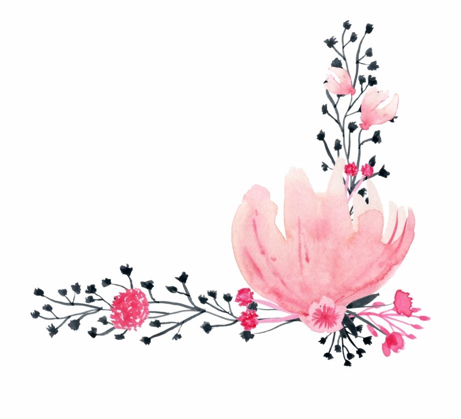 Petal Drawing Ink Flores De Acuarela Dibujo Png