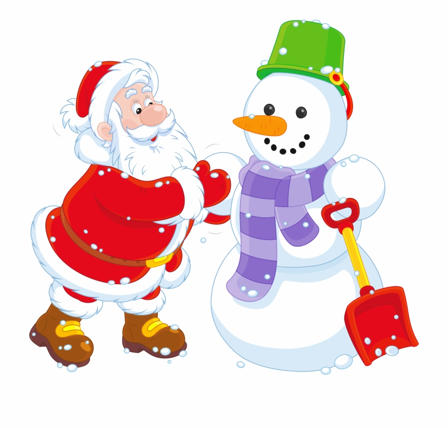 transparent santa and snowman png clipart santa and snowman clipart transparent png download 1323292 vippng vippng