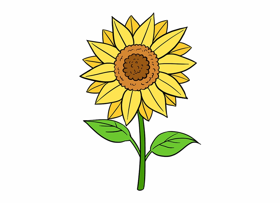 Svg Free Download Faith Drawing Flower Sun Flower Drawing Easy Transparent Png Download 1325542 Vippng