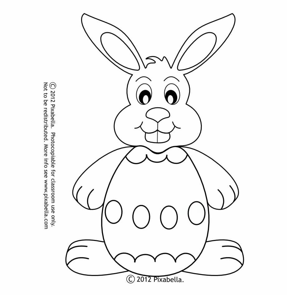 Easter Bunny Outline Az Coloring Pages - Domestic Rabbit ...