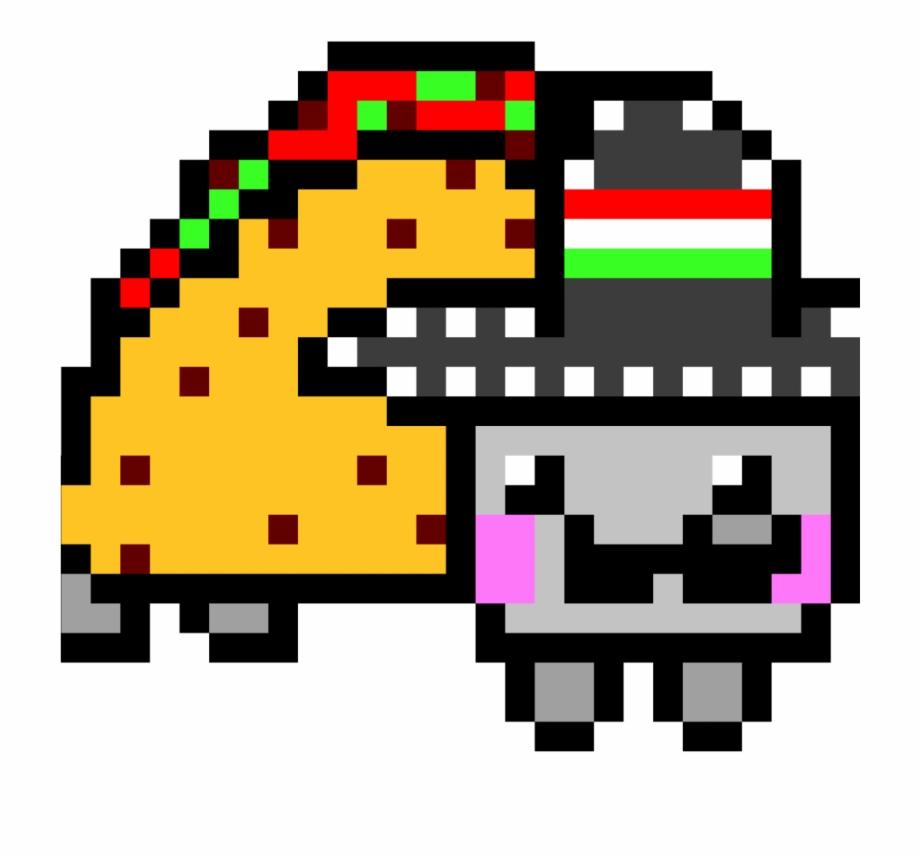 Taco Pixel Art Nyan Cat Transparent Png Download 1360077