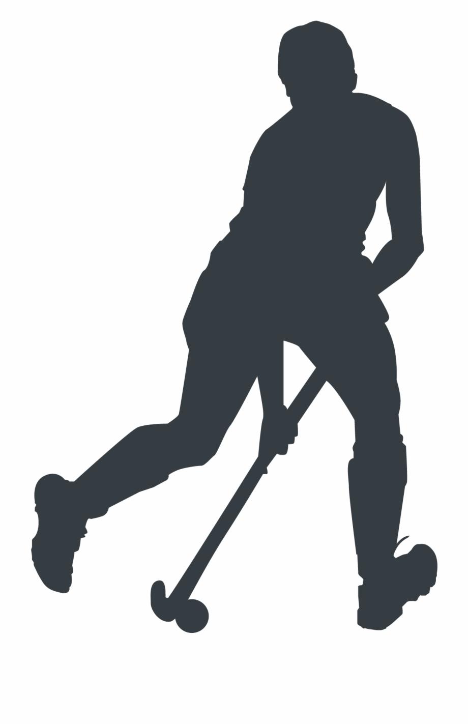 silhouette field hockey clipart - Silhouette, Field Hockey, transparent  clip art