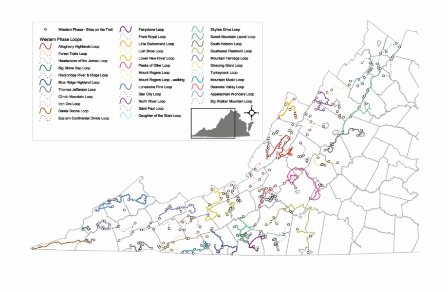 Loops On This Trail - Virginia Map With Cities   Transparent ...