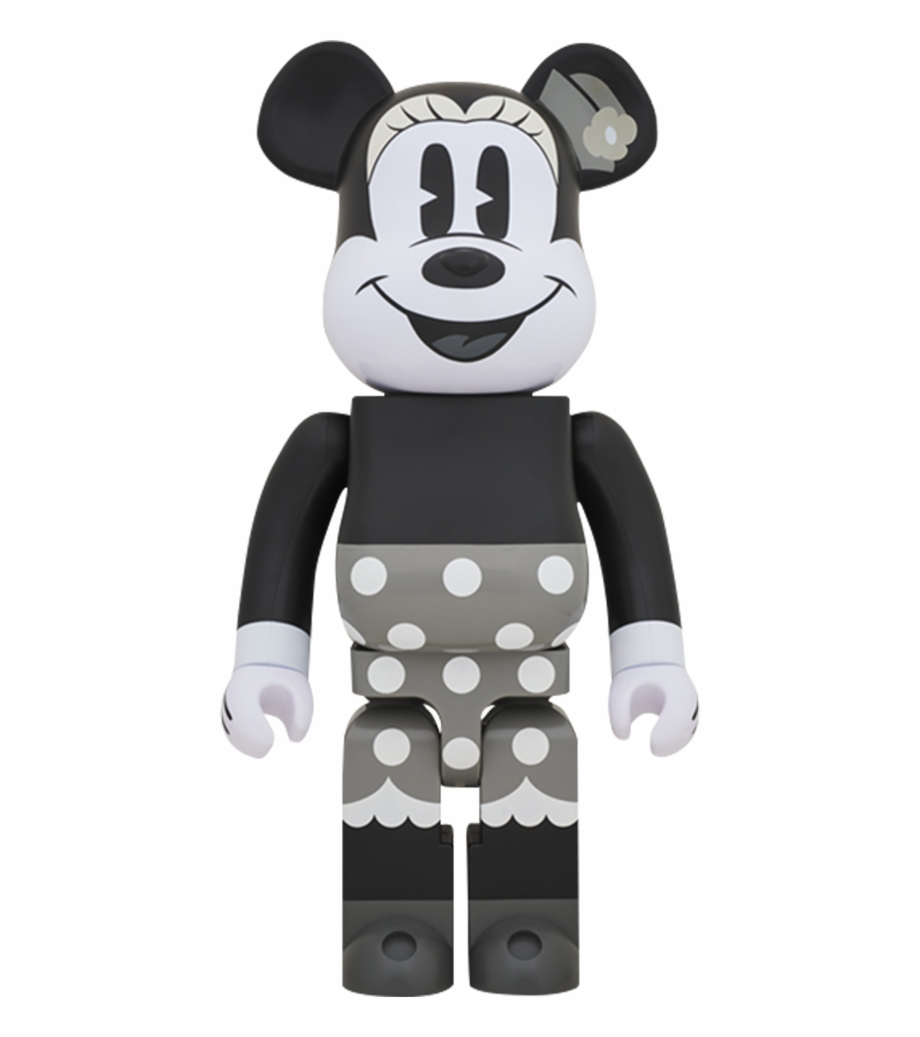 Medicom Toy Bearbrick Minnie Mouse Black And White - Bearbrick Mickey Mouse  90th Anniversary | Transparent PNG Download #1439416 - Vippng