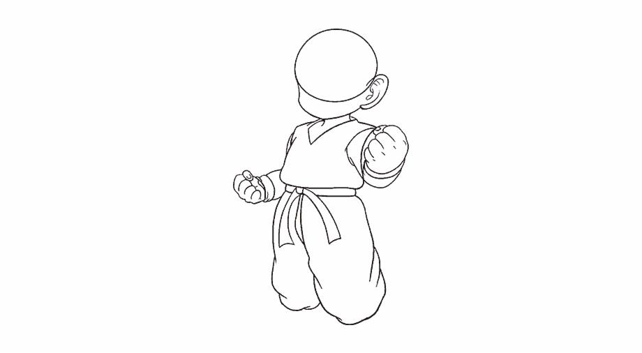 How To Draw Goku Goku Easy Color Drawing Transparent Png