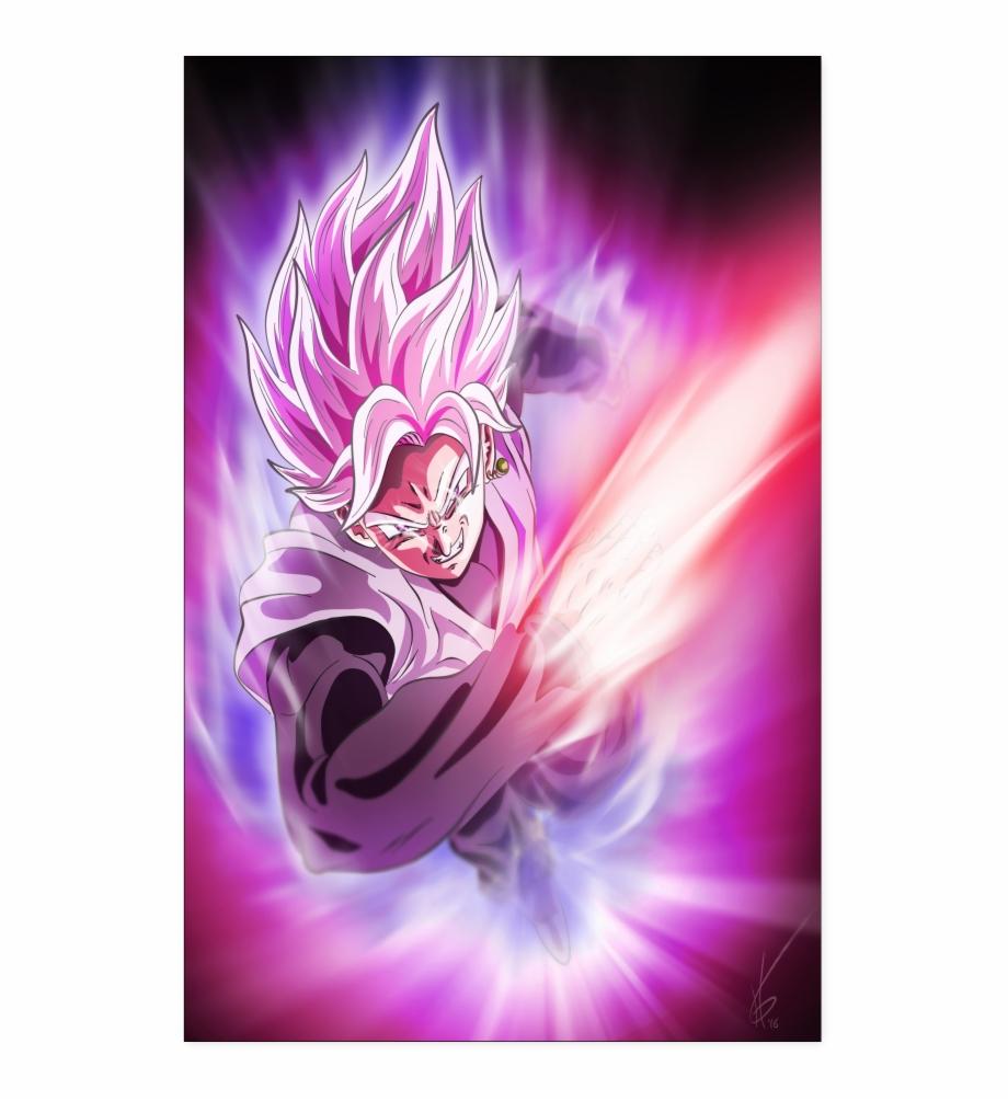 Goku Black Rose Poster Goku Rose Wallpaper Iphone Transparent