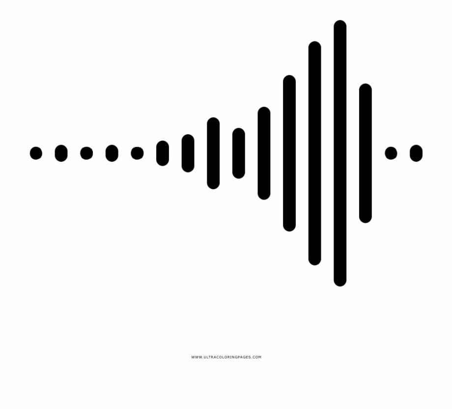 Sound Wave Coloring Page Desenho De Ondas Sonoras Transparent