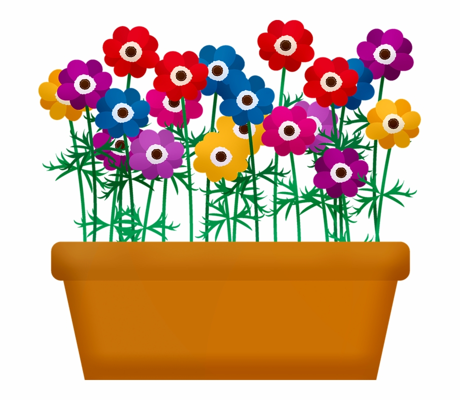 flowerbox flowers in pot flowers garden spring flower pot with flowers clipart transparent png download 1466741 vippng pot flowers garden spring flower pot