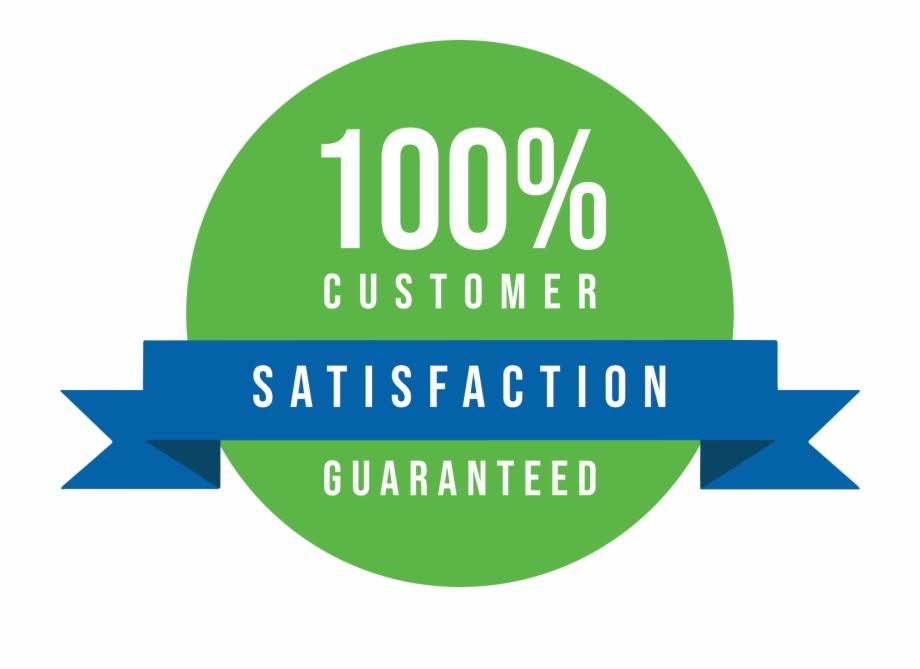 100 Percent Satisfaction Guaranteed - Graphic Design | Transparent ...