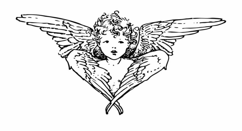 Black Clipart Guardian Angel Clip Art Transparent Png Download 154676 Vippng