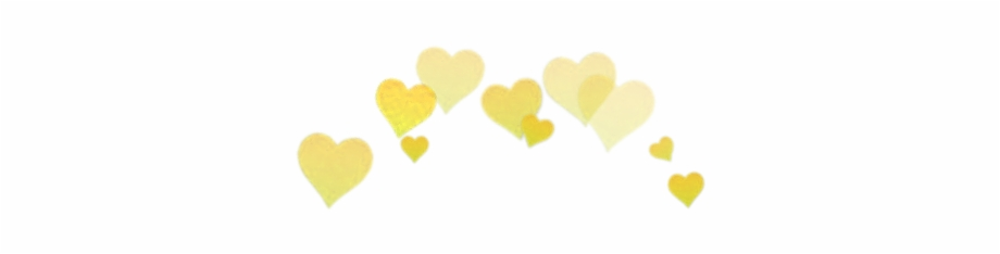 Yellow Hearts Snapchat Filter Transparent Png Download