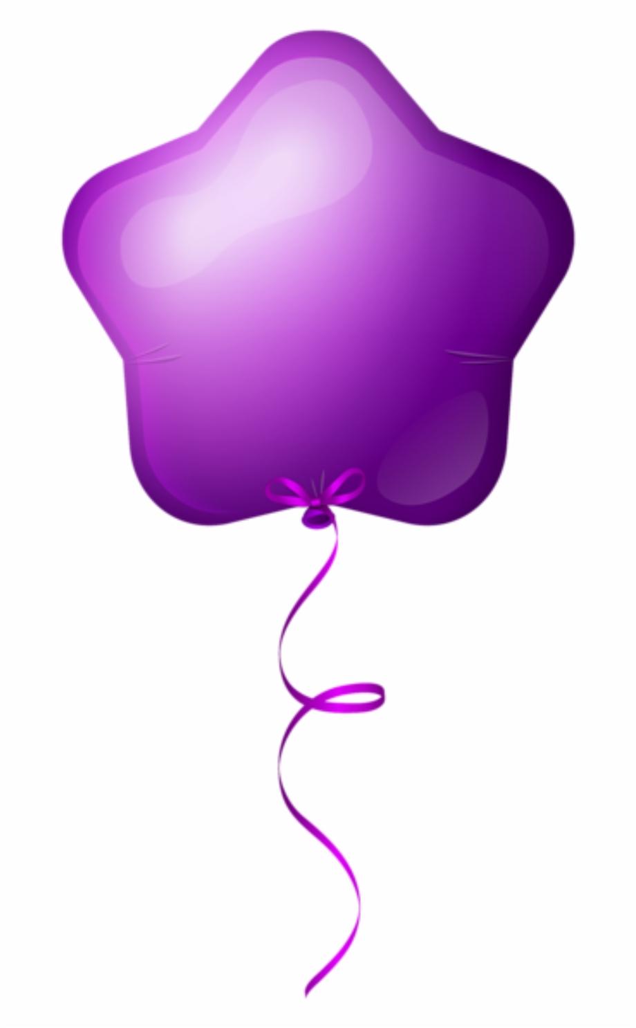 Baloes Balao Estrela Roxo Png Birthday Single Balloons Png