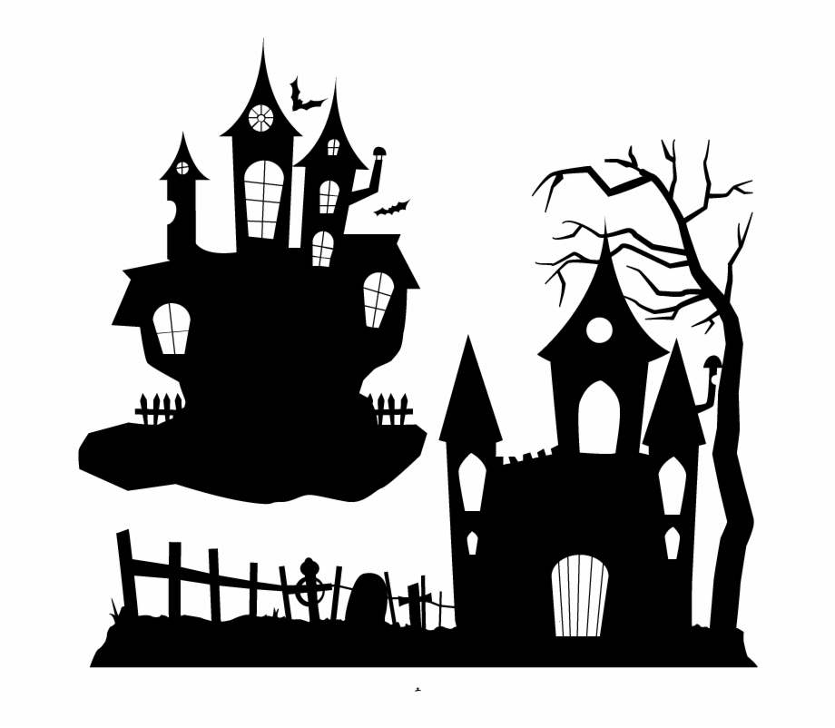 Ghost Party Clip Art Silhouette Halloween Silhouette Png Transparent Png Download 1575143 Vippng