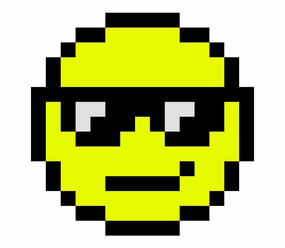 Cool Emoji Pixel Art Smiley Emoji Transparent Png