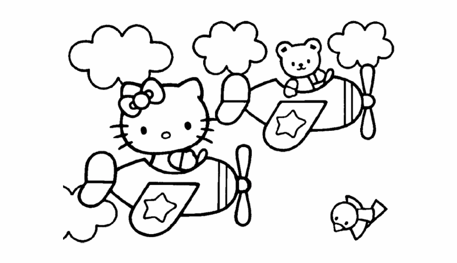 Look this awesome coloring page of Hello Kitty dressed as a ... | 529x920