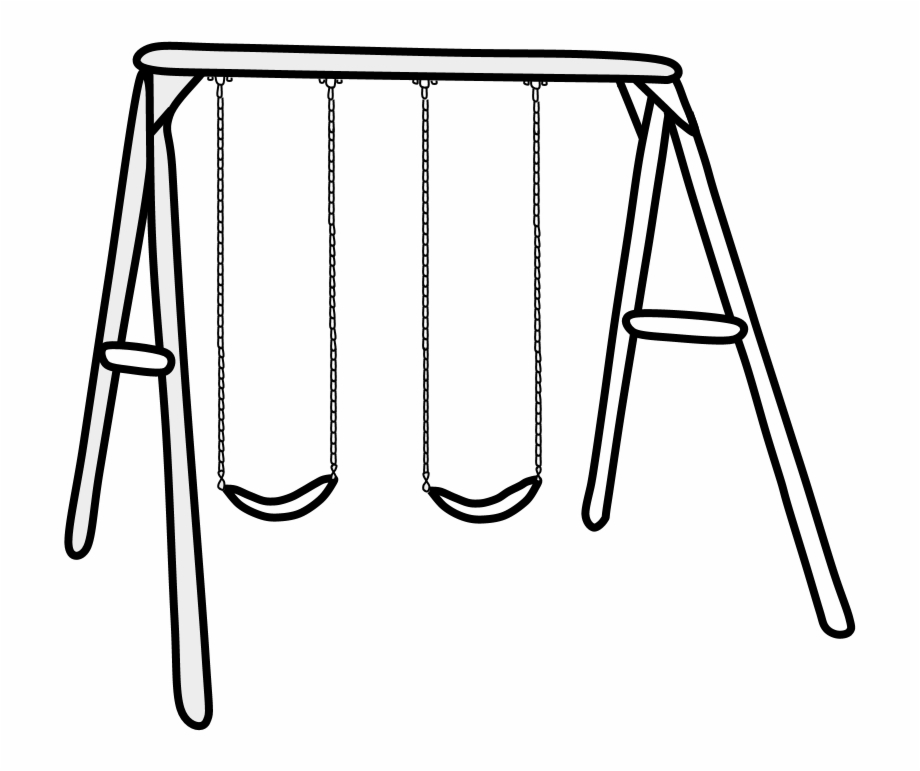 Swings Set Black And White Png Swing Transparent