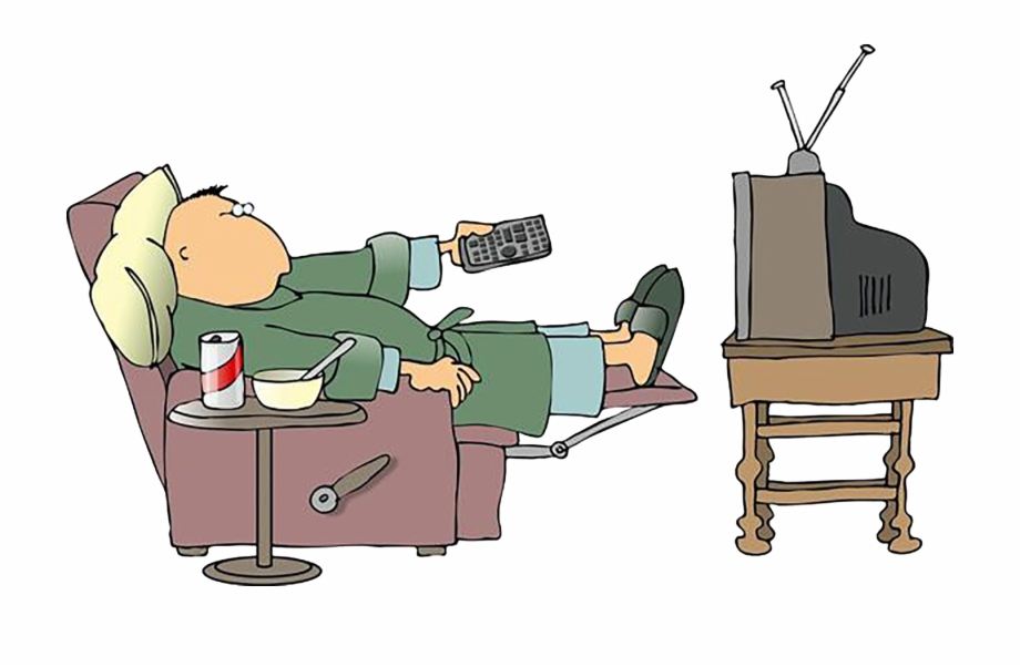 Television Cartoon Clip Art - Sick And Watching Tv | Transparent PNG  Download #1644018 - Vippng